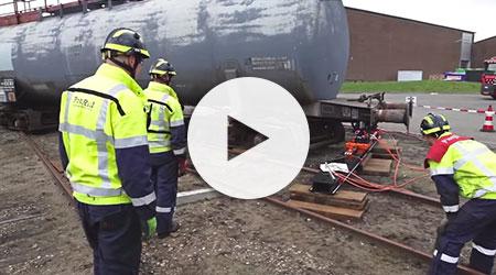 Holmatro Industrial Equipment: Rerailing system