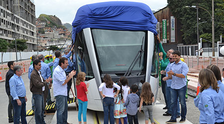 Alstom: First Citadis tram delivered to the city Rio de Janeiro