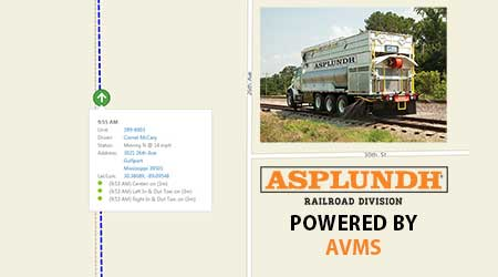 Asplundh Railroad Division: GPS-based Automatic Vehicle Management System