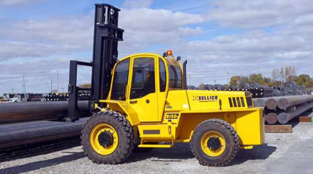 Sellick Equipment: Rough terrain forklift